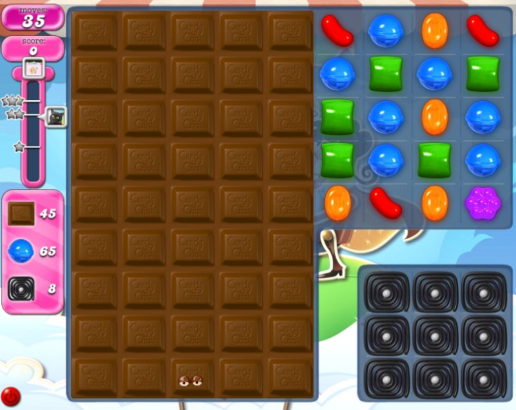 candy crush level 1818 cheats