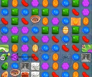 Candy Crush Level 464 cheats