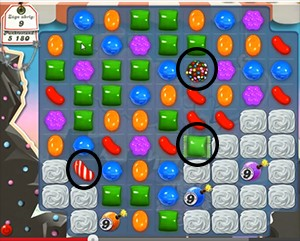 Candy Crush Level 96 cheats