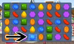 Candy Crush Level 1 help