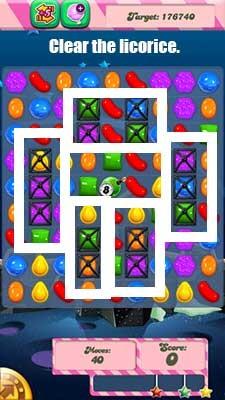 Candy Crush Level 98 cheats