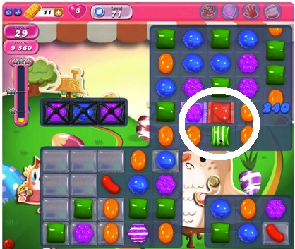 Candy Crush Level 71 tip