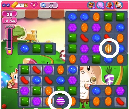 Candy Crush Level 71 help