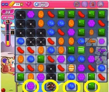 Candy Crush Level 93 cheats