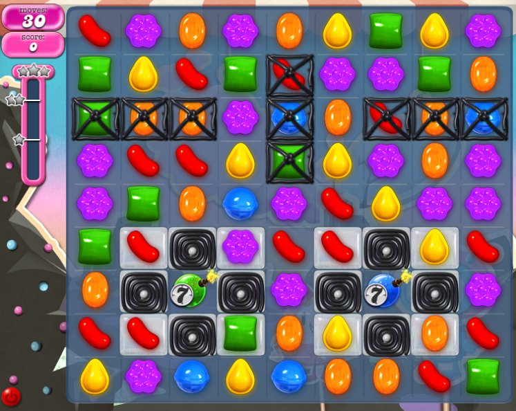 candy crush level 106 cheats