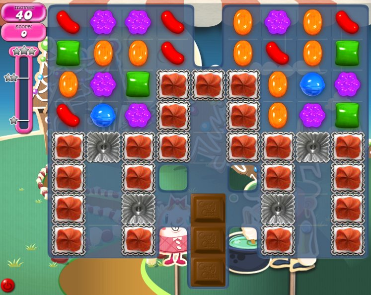 candy crush level 154 cheats