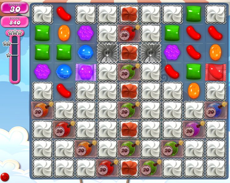 candy crush level 1820 cheats