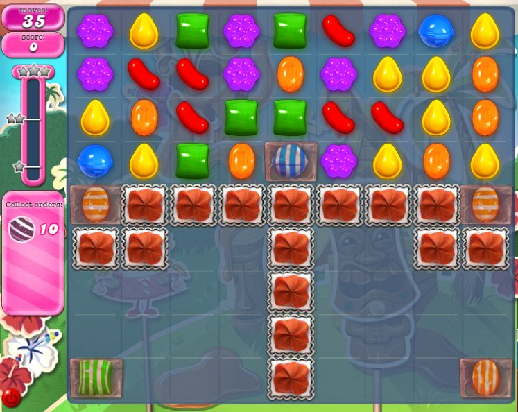 candy crush level 186 cheats
