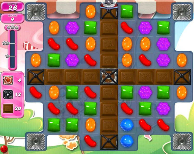 candy crush level 2287 cheats