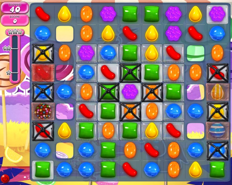 candy crush level 295 cheats