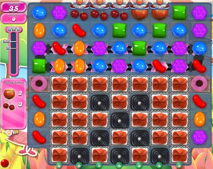 candy crush level 598 cheats