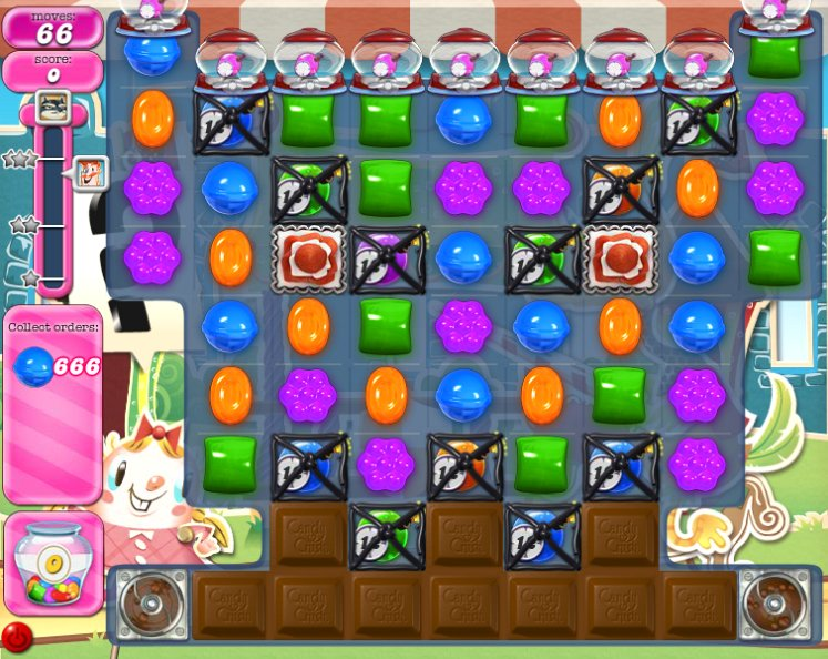 candy crush level 666 cheats