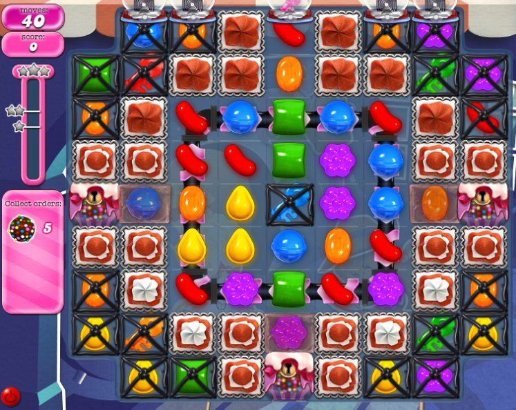 candy crush level 834 cheats